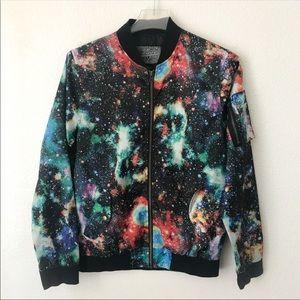 Trademark Brooklyn Cloth Galaxy Bomber Jacket Sz M